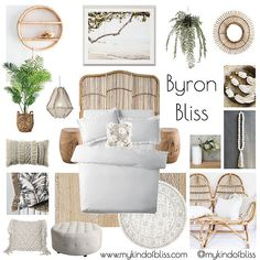 coastal condo, my kind of bliss, boho style, hamptons, pom pom, cane furniture, bohemian, mood board, coastal decor, interior design, interior stylist, bedroom , australian designer, property stylist, living room inspo, coastal styling, home decor, linen, white room, freedom, zanui, homewares, cushions, sofa, room design, beach house, coastal home