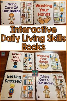 These ADL or daily living skills books are great for teaching crucial life skills while creating hands on learning opportunities. These books will capture the attention of your students and increase their participation rate. This set is ideal for special education programs especially those designed for students with autism and multiple disabilities…