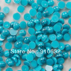 2000pcs 3mm Round Flatback Turquoise Beads For Nail Art Decoration Green/Blue/Red/White For You Pick