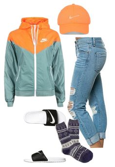 """""""My friend made this."""" by emma12emma ❤ liked on Polyvore featuring Pistola, NIKE and J.Crew"""