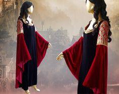 Cette magnifique robe est issue de la robe de que Dame Arwen porte dans le dépistage de Peter Jackson de « Le Seigneur des anneaux ». La partie corsage