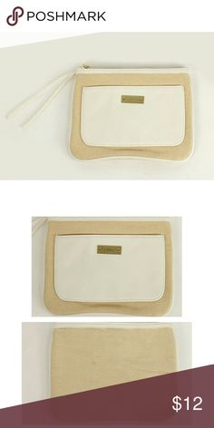 "Chloe Parfum makeup cosmetic bag Chloe Parfum makeup cosmetic bag. Ivory/beige. Canvas/faux leather. Measures approx 7.75"" x 6"".  Like new condition. Never used. Chloe Parfum Bags Cosmetic Bags & Cases"