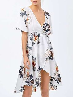 Prezzi e Sconti: #High low floral swing wrap dress  ad Euro 19.98 in #Women dresses print dresses #Moda