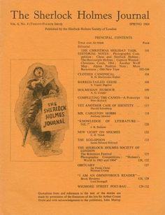 Sherlock Holmes Journal, Spring 1964