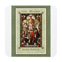 St. Patrick Coaster - saint patricks day st patricks holiday ireland irsih special party