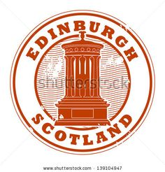 Grunge rubber stamp with the name of Edinburgh, Scotland written inside the stamp, vector illustration - stock vector