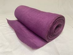 "14"" Purple Burlap 10 Yard Roll Sewn Edges - Made In USA Burlap Ribbon, Custom Design, Yard, Usa, Sewing, Purple, Crafts, Patio, Dressmaking"