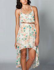 Belted Chiffon Hi Low Dress - #FULLTILT #CHIFFON #DRESS