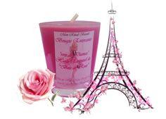 """Bougie naturelle Parfumée """" Rose de Dammas"""" : Luminaires par mon-rituel-beaute"""