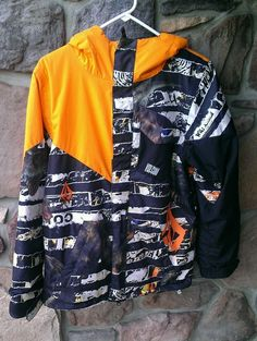 23bcaa5ed DINOSAUR XL VOLCOM STONE~Boy Youth Snowboard Jacket~WINTER COAT  Insulated~Orange #