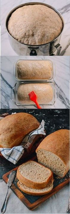 Perfect Whole Wheat Bread This whole wheat bread recipe makes perfect sandwiches and toast, and it has a rich, complex flavor. - The Perfect Whole Wheat Bread recipe by the Woks of Life Bread Machine Recipes, Bread Recipes, Baking Recipes, Bread Bun, Easy Bread, Bread Rolls, Wheat Bread Recipe, Whole Wheat Bread, Bread And Pastries