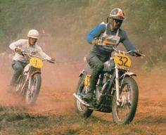 Sten Lundin, 1961 world motocross champion, on Swedish Lido in 1964, leads Walt Baeten on Eso-Metisse