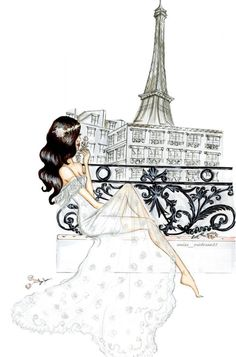 Fashion Illustration Speed Painting with Ink - Drawing On Demand Illustration Parisienne, Illustration Mode, Arte Fashion, Girl Fashion, Fashion Design, Fashion Sketches, Fashion Illustrations, Art Drawings, Art Photography