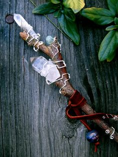 Magickal Ritual Sacred Tools:  Midnight Faeries Willow #Wand.