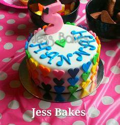 Rainbow Hearts cake by Jess Bakes www.jessbakes.net