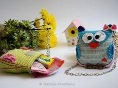 Tasche mit Eulen-Motiv selber häkeln-DIY ★★