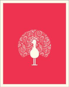 {a} vintage poster paisley peacock Caitlin Wilson Design, Art Wall Kids, Wall Art, Peacock Art, Peacock Design, Paisley Fabric, Wall Collage, Vintage Posters, Illustration Art
