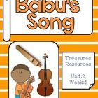 This packet includes resources to use with the Treasures reading program for Babu's Song . I have included everything you need for a focus wall tha...
