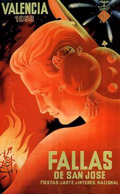 vintage photos of valencia Vintage Advertisements, Vintage Ads, Vintage Photos, Poster Ads, Poster Prints, European Festivals, Railway Posters, Kunst Poster, Art Deco Posters