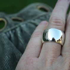 Heavy sterling silver dome ring by Lola&Cash Wide Rings, Sterling Silver Rings, Rings For Men, Jewels, Gemstones, Band, Men Rings, Sash, Sterling Silver Thumb Rings