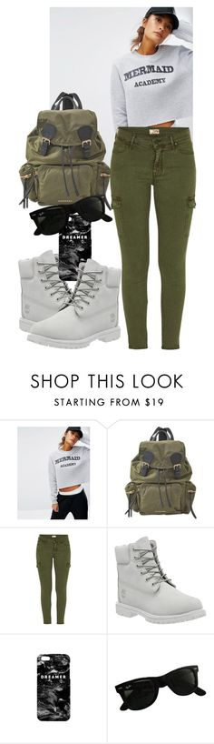 """""""Mermaid academy"""" by kiara-tuggle ❤ liked on Polyvore featuring Daisy Street, Burberry, Mother, Timberland, Mr. Gugu & Miss Go and Ray-Ban"""