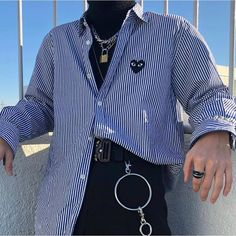 3 different ways to wear a shirt How would you wear it? 12 or 1 by 2 by street style inspiration Indie Outfits, Edgy Outfits, Korean Outfits, Grunge Outfits, Cool Outfits, Fresh Outfits, Male Outfits, Trendy Mens Outfits, Boy Fashion