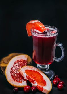 Hot Grapefruit And Cranberry Drink