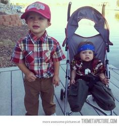Forrest Gump and Lieutenant Dan, the early years.