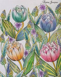 いいね!255件、コメント34件 ― tiaさん(@tiatiajewjew)のInstagramアカウント: 「🌸野の花のぬり絵 🌸チューリップ🌷 🌸見開きページ左ページ ほとんどダイソーパステルそして、時々色鉛筆&パステルペンシル✨ お花の色も色々自由色、不思議色〜エへ💦😅🌷 連投ごめんなさい💦 .…」
