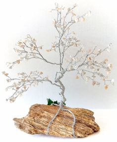 Large Bonsai GEM TREE Sculpture Custom Order /  Pick Your Gemstones.  This is a neat idea... you choose which gemstones will be used as the leaves.  I like it :)