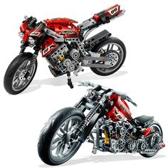 Decool 3353 3354 lepinテクニックバイクオートバイ車の建設用れんが·ブロックおもちゃ子供のための男の子ゲームギフトbela 8051