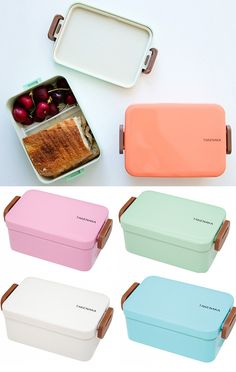 These colorful glossy Bento boxes are a modern, fun way to pack & stack your lunch.