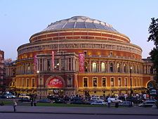 The Royal Albert Hall is a concert hall on the northern edge of South Kensington, in the City of Westminster, London, England, best known for holding the annual summer Proms concerts since 1941.