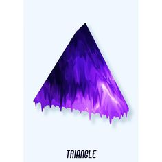 Triangle. #paint #effect #filter #triangle #geometry...