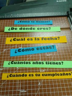 Love these stations to review common information in Spanish.