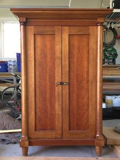 Beautiful Solid Wood Armoire. Originally Made For A Tv. We Have Been Using  It To Store Other Items And As Primary Piece Of Furniture In Our Living  Room.