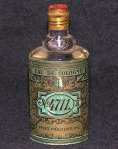 Vintage Packaging: No.4711 Perfume - The Dieline - My mom used to have this perfume. I don't remember what it smelled like. I'm thinking lemony.