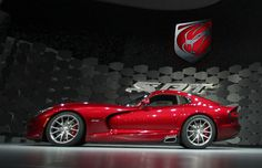 2013 Chrysler SRT #Viper is seen at the 2012 International Auto Show in New York