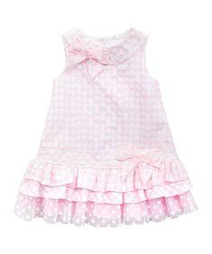 Love this Light Pink & White Seersucker Ruffle Dress - Girls on #zulily! #zulilyfinds