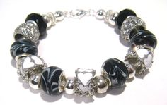 Pandora Style Bracelet Be Still My Heart by BrankletsNBling,