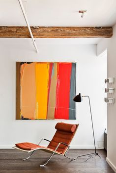 Private Residence in SoHo, NY by Shamir Shah Design on See more of Shamir Shah Design's Private Residence in SoHo, NY on Painting Inspiration, Interior Inspiration, Living Room New York, Diy Wall Art, Living Room Designs, Abstract Art, Interior Design, Home Decor, Paintings