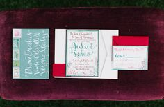 calligraphy invite by Makewells on Green Wedding Shoes