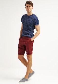 TOM TAILOR JIM  - Shorts - red grape - Zalando.no