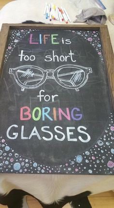 Life is too short for boring glasses