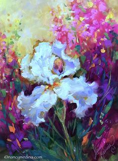 Painted Live - Morning Glow Iris -- Nancy Medina