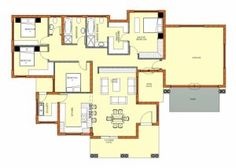 Amazing Free South African House Plans Pdf Africa Home Designs Single Storey House Plan South Africa Images - House Plan Ideas : House Plan Ideas Free House Plans, Best House Plans, Modern House Plans, Small House Plans, House Floor Plans, Modern Houses, Home Plan Software, Four Bedroom House Plans, Double Storey House Plans