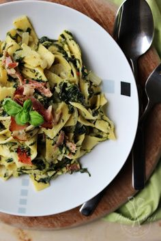 Pikante Pasta Spinaci mit Schwarzwälder Schinken