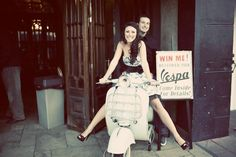 engagement idea with the vespa