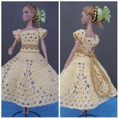 Платье. Ажурное платье для куклы. Openwork dress for a doll.