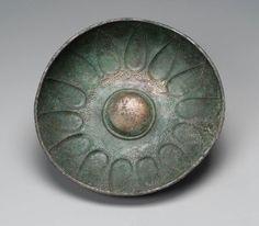 Bronze omphalos bowl. Near Eastern. Anatolian, Phrygian. Late Phrygian Period. 6th century B.C.   Museum of Fine Arts, Boston